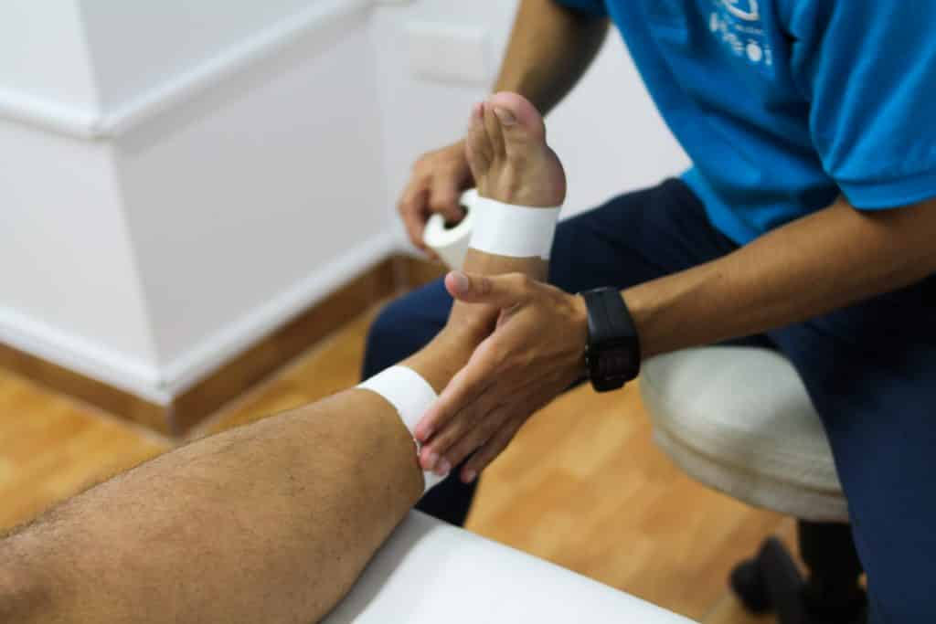 vendaje fisioterapia