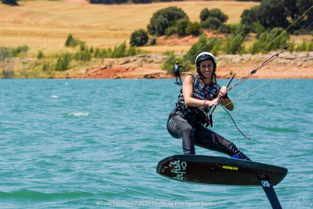 Marta, campeona de España de Kitesurf